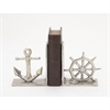 Striking Aluminum Nautical Bookend, Silver