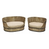 Benzara Classic Style Pet Bed Set With Handmade Wood