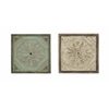Benzara Artist Wall Décor With Roman Hand Etched Floral Design