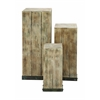 Benzara Mastercraft Wood Pedestal Set For Your Décor Items