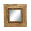 Benzara Looking Glass Style Mirror With Old Look Square Frame