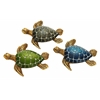 "Table Top Polystone Turtle 3 Assorted 5""W, 1""H Statue"