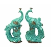 Ceramic Peacock In Beautiful Aqua Blue Color - Set Of 2
