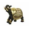 Indian Style Polystone Decorative Elephant With Gold Accents