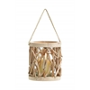"Benzara Elegant And Attractive 7.5"" Wooden Lantern With Classic Design"