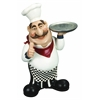 Benzara Polystone Chef With Plate A Restaurant Decor