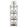Metal Wood Corner Rack Environment Friendly