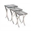 The Sleek Set Of 3 Stainless Steel Vinyl Table