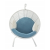 "Aluminum Pe Rattan Pod Chair 48""W, 70""H"