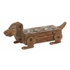 Benzara Fantastic Wood Dog Feeder