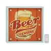 Benzara Beer Genuine Wood Led Wall Art With Remote