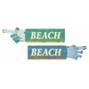 Benzara Fascinating Styled Wood Beach Sign 2 Assorted