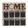 Benzara Antique Styled Brilliant Wood Memo Clock