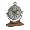 Benzara Amazing Styled Metal Wood Table Clock