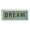 "Benzara Glowing Wood Led Dream Sign 22""W, 10""H"