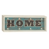 "Radiant Wood Led Home Sign 26""W, 10""H"