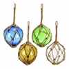 Benzara Glass Float W Rope 4 Asst Unique Decor