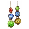 Benzara Glass Jute Float 2 Asst A Set Of Two