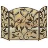 Benzara Metal Fire Screen A Decorative Protection