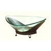 Benzara Glass Bowl Metal Stand Made Of Quality Thick Glass