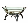 Benzara Glass Bowl Metal Stand For Waiting Lounges