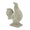 "Polystone Rooster 12""W, 15""H, Gray"