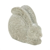 "Polystone Rabbit 13""W, 10""H, Gray"