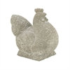 "Polystone Rooster 12""W, 12""H, Gray"
