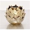 Elegant Ceramic Gold Vase, Gold