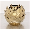 Charming Ceramic Gold Vase, Gold