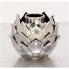 Charismatic Ceramic Silver Vase, Silver