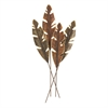 Unique Metal Leaves Wall Decor, Antique Bronze