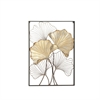 Innovative Metal Wall Decor, Golden & Brown