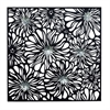"Metal Wall Decor 38""W, 38""H, Silver, Black"