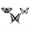 "Metal Butterfly S/3 16"", 17"", 19""W, Black"