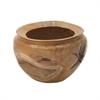 Vintage Themed Teak Bowl, Natural Wood