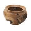 Customary Teak Bowl, Natural Wood