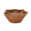 Charming Teak Rustic Bowl, Natural Wood