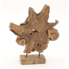 Alluring Teak Sculpture, Natural Wood
