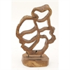 Amazing Teak Sculpture, Natural Wood