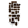 "Metal Wood Wall Decor 24""W, 45""H, Brown, Black"