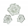 Set Of 3 Silver Floral Wall Plaque