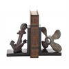 Benzara Creative Styled Interesting Polystone Bookend Pair