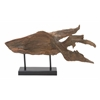"Benzara Polyresin Metal Fish 29""W, 16""H"
