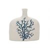 "Attractive Ceramic Coral Vase 9""W, 9""H"