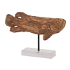 Nautical; Ps Fish Sculpture, Natural Wood, Black