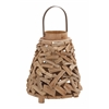 Benzara Surprisingly Creative Driftwood Metal Lantern