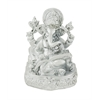 Benzara Divine And Wonderful Silver Ganesh Figurine