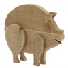 "Benzara Alluring Wood Pig 13""W, 12""H"