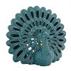 Benzara Extraordinary Ceramic Peacock Votive Holder